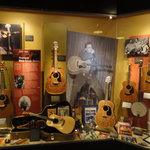 Guitars displayed in museum