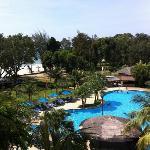 beutiful beach & swimming pool