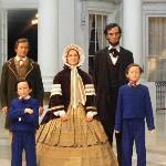 The Lincoln family in the White House days.