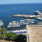 The view from our room toward Ustica marina.