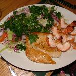Chicken & King Prawns with mixed salad