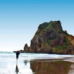 Piha beach and Lion Rock