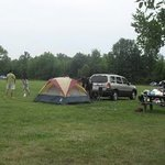 The open field camping ground