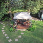 View of the gazebo from the balcony