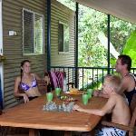 Palm Cabin verandah