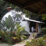 The dome we stayed in from the outside