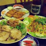 Cao Lao, Cantonesse Fried Rice, Pork Spring Rolls, Local Beer