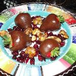 Nice Plate of Chocolate, Cranberries & Walnuts