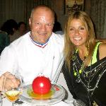 Philippe Etchebest and me with the most INCREDIBLE dessert I have ever seen.