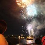 fireworks after boat ride