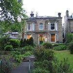 Angeldale in its garden setting.