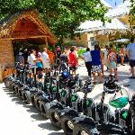 The Segways at the entrance of the Indigenous Eyes Ecological Reserve