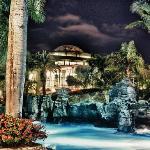 Jardines pool area 2011 at night