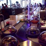 Dishes on the conveyor belt
