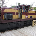This is the diesel train that pulls the coaches.