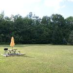 Picnic/Recreation area behind motel