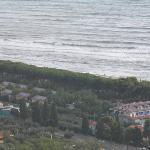 panoramica dall'alto sul villaggio
