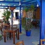 The ouside tables of Corner (Kavos)