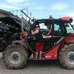 sur le tracteur.
