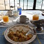 Yummy breakfast, seaside, every morning!