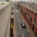 View of the street from the roof