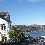 Kames Hotel on the edge of the loch