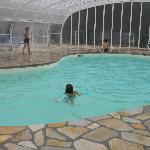 La piscine chauffée couverte