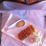 Cognac marinated salmon