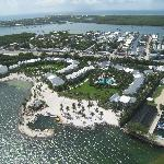 view of resort from Island Hopper helicopter