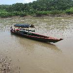 La lancha pour aller à Yatchilan
