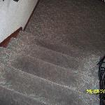 verschmutzter Treppenteppichboden
