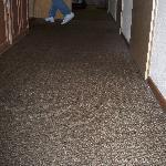 welliger Teppich im Flur