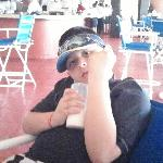 Diego My oldest giveing the whaz up at Barcelo