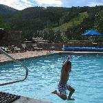 Pool outside Dakota Lodge.