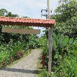 The entrance to Villas Tranquilas off hwy 34, 200 meters south of Maxi Pali in Quepos, right bef