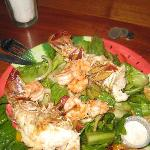 made fresh seafood salad
