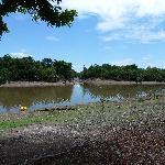 Le lagon en période séche