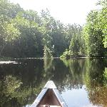 Canoing up a smaller tributary on the St-Maurice