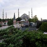 Blue Mosque from the rooftop restaurant