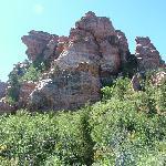 Where we climbed.Zion Canyon