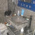 Salle de bains depuis la douche