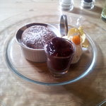 Chocolate Fondant with Cherry Compote