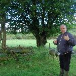Sean playing tour guide, telling us about the early Christian cemetery on their land.