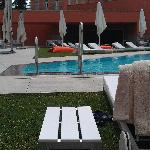 The SPA and pool are very well integrated with the main building