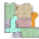 floorplan of the flat I stayed in
