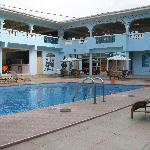 Pool, bar, and gym
