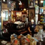 inside Java--notice the yummies in the glass canisters!
