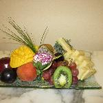 Fruit plate in our room