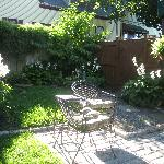 one corner of the patio and garden