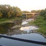 river behind motel
